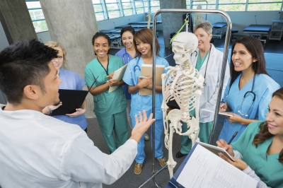 medical students in training